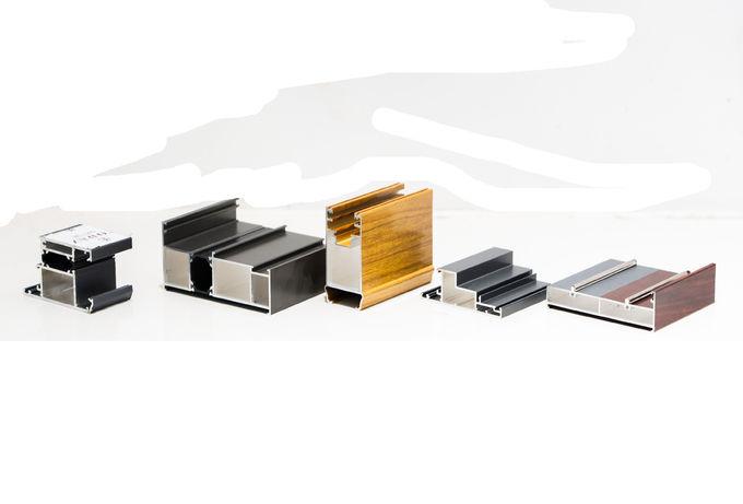 La puerta de aluminio superficial anodizada OEM perfila la forma estructurada 0 de la aleación 6063 T5