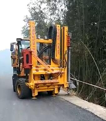 HongGong Road Safety Barriers Installation Machine