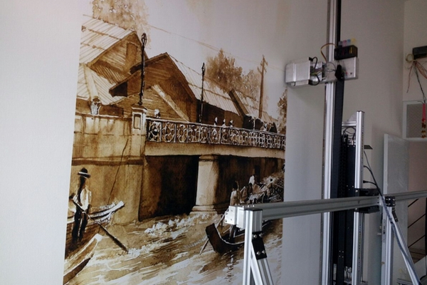 wall murals printing of hotel in Tailand