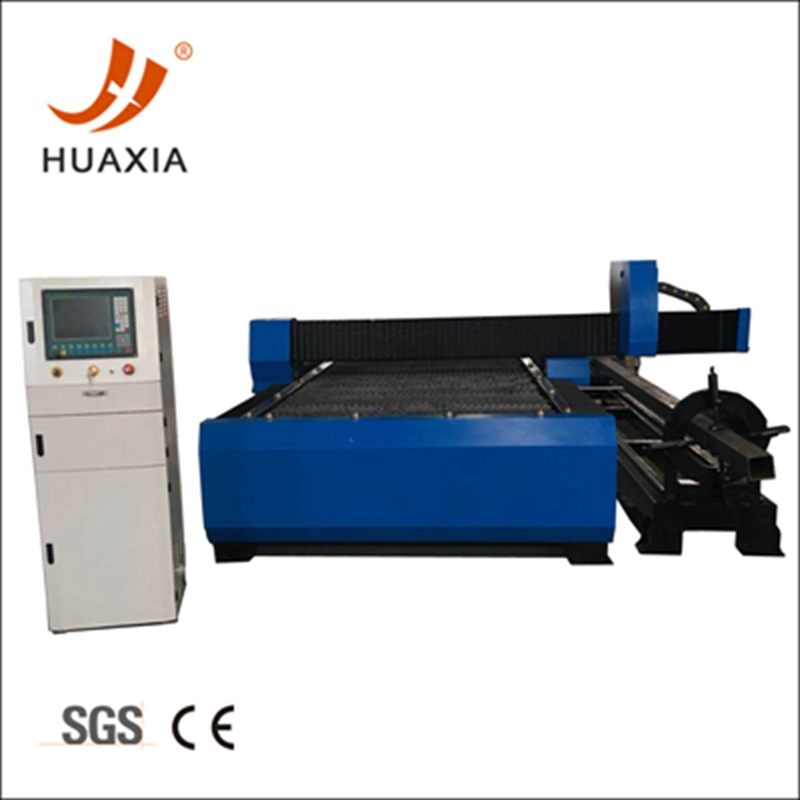 L profile steel cutting by 4 axis plasma cutting machine