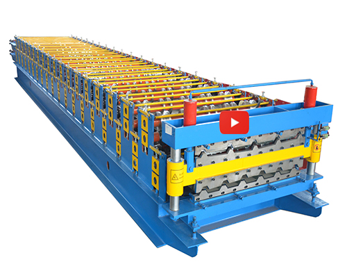 Double Decker Roof Tiles Cold Roll Forming Machine