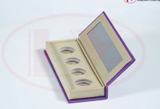 Eye shadow packaging box