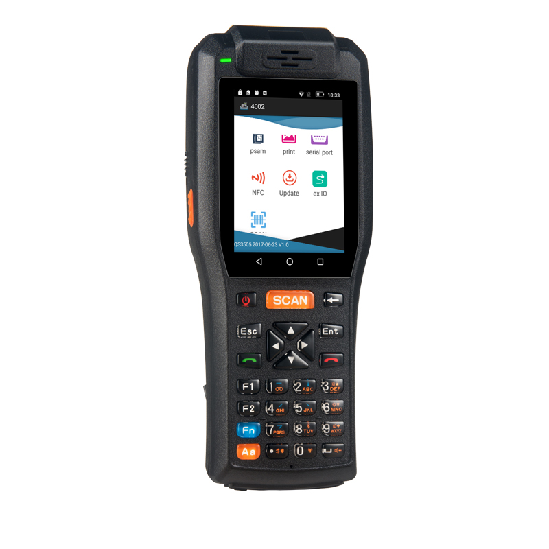 PDA3505 series handheld barcode scanner PDA with printer
