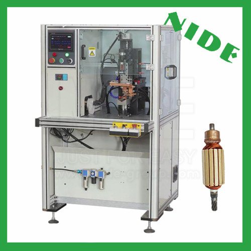 Armature commutator fusing machine