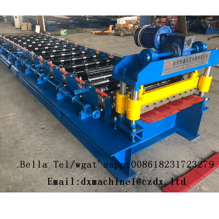 Trapezoidal Profile Roofing Sheet Metal Roll Forming Machine