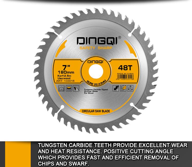 Lame de scie à bois DingQi Scie circulaire multi-lames pour bois 180 mm