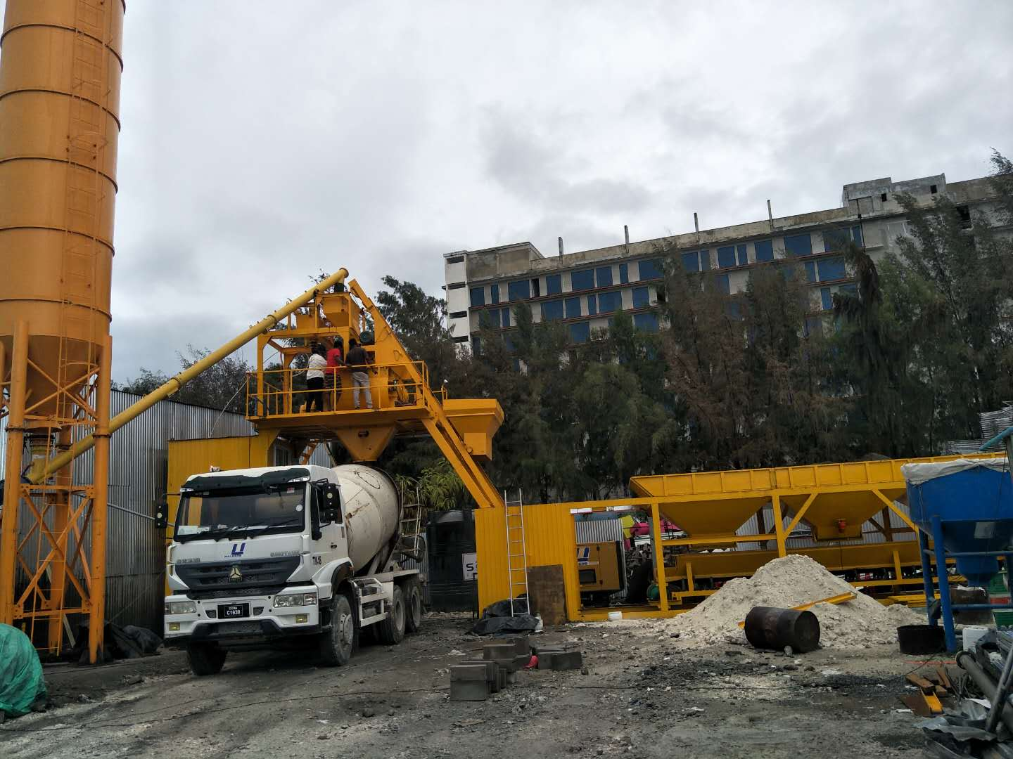 Non-foundation Concrete Batching Plant 30 in Maldives