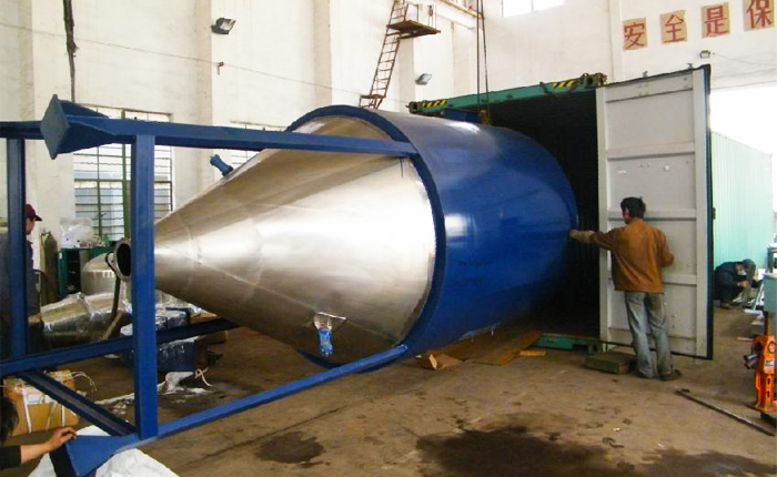 Spray Drying Machine Load Ship Container at Factory