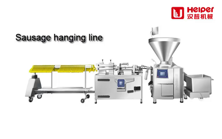 Sausage Making and Production-sausage linking system, sausage hanging line