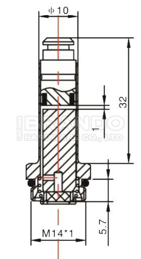 Mecair Type Solenoid Stem CP1 / 4 Plunger Tube Assembly For VNP 200/300/400/500/600/700 Pulse Membrane Pulse Valve