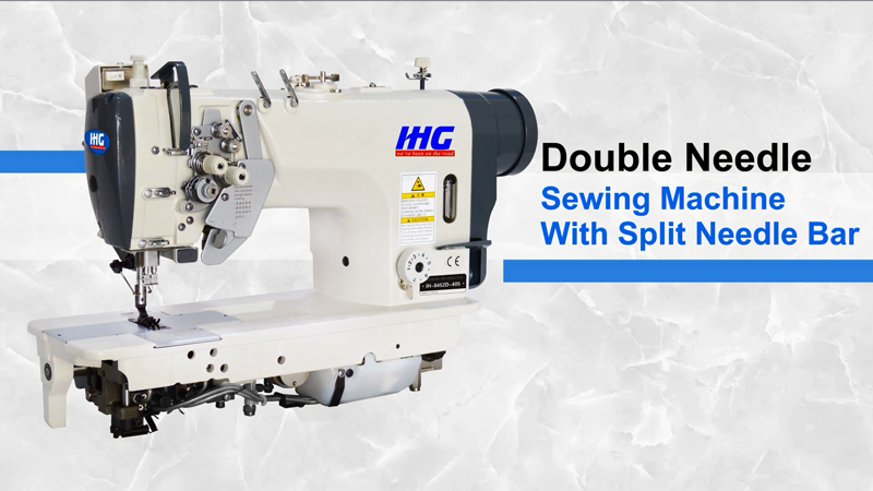 IHG IH-8452D/IH-8752D Driect Drive Double Neelde Sewing Machine with Split Needle Bar
