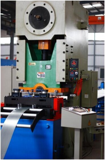 Cable Tray Roll Forming Machine - Punching