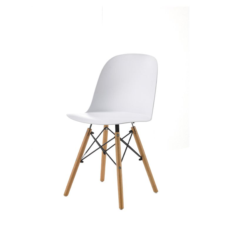 Black Plastic Cafe Dining Chairs
