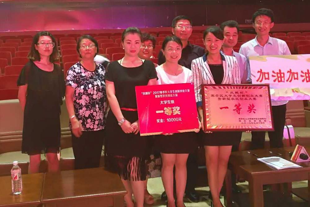 First Prize in the Entrepreneurship Competition Weifang