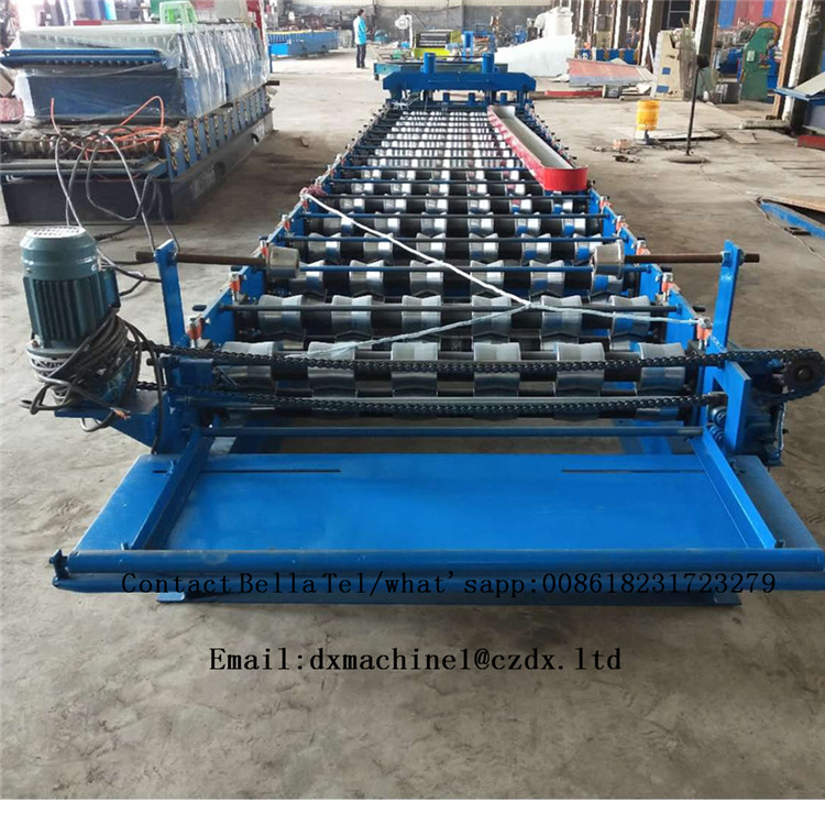 High Quality Roof Glazed Tile Roll Forming Machine With Low Consumption