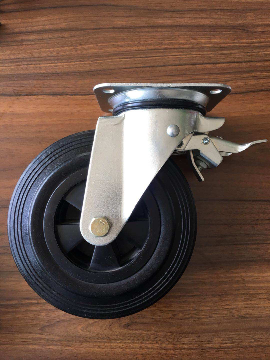 rubber caster wheels for waste bins
