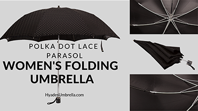 Polka Dot Lace Parasol Women's Folding Umbrella