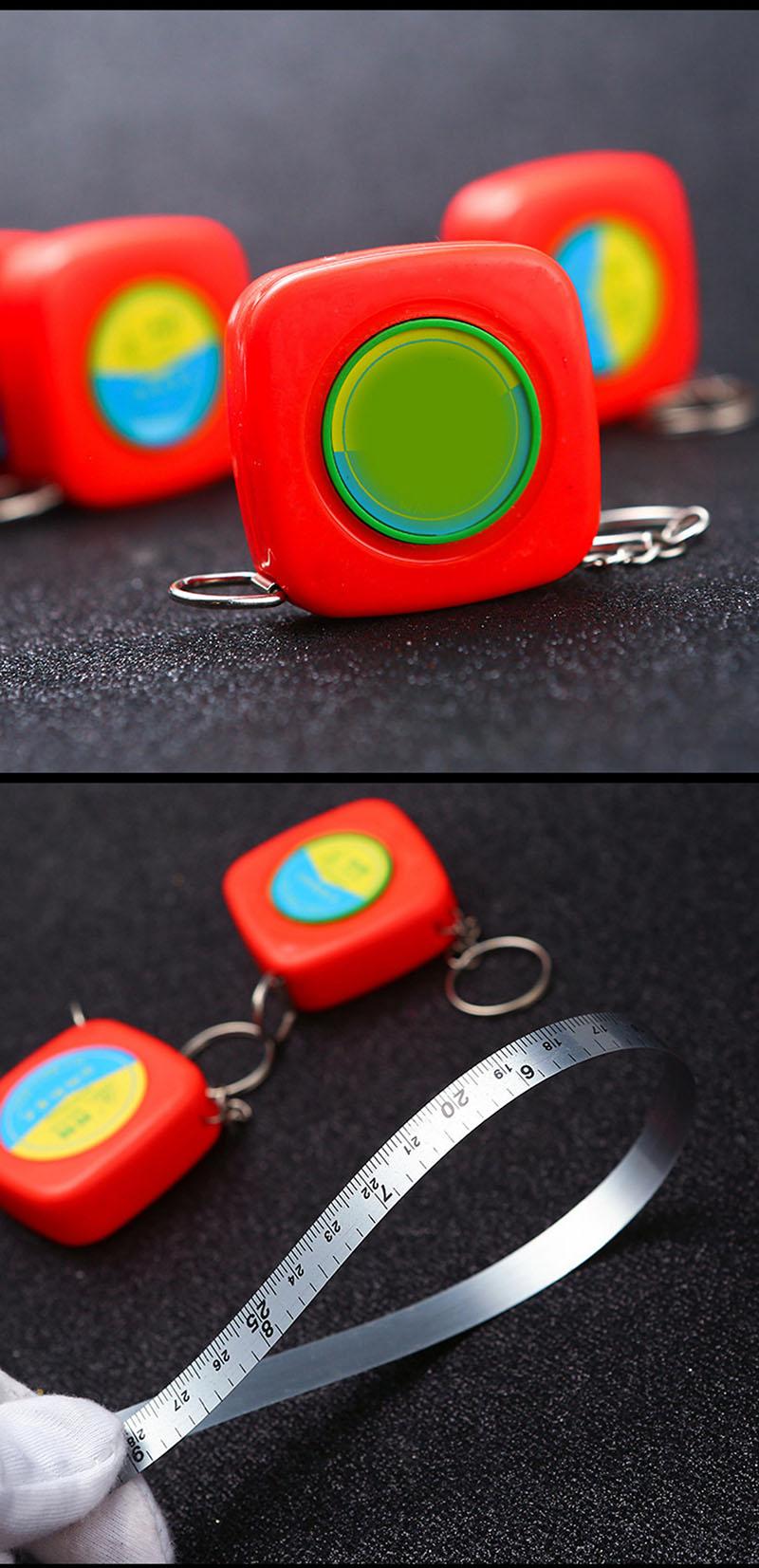 Cinta métrica personalizada al por mayor de la medida del cuerpo de las cintas métricas de la cerradura del empuje de los 2m del logotipo de encargo al por mayor