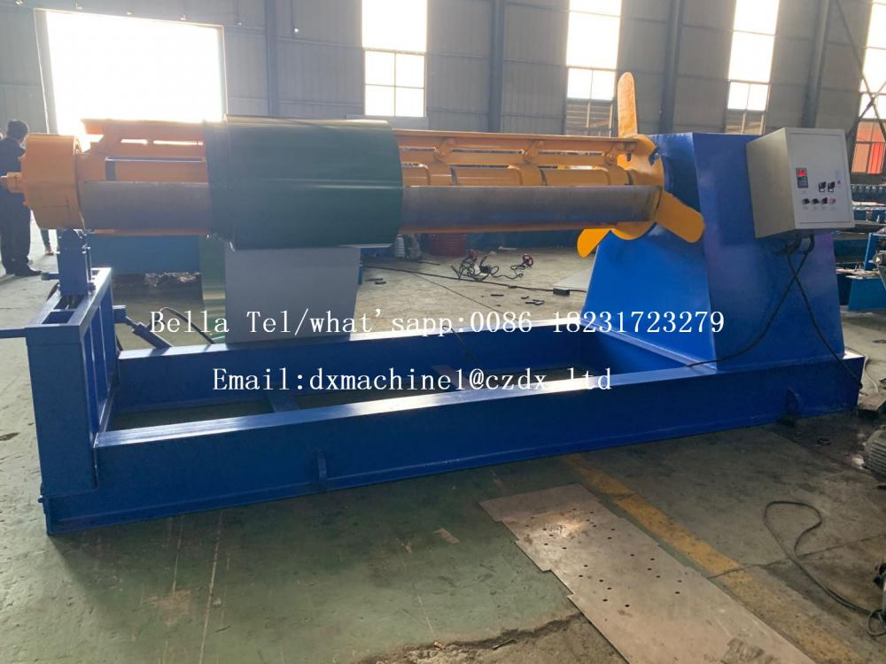 hydraulic metal sheet decoiler with loading car