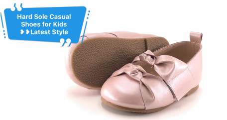 Leather Hard Sole Children Casual Shoes