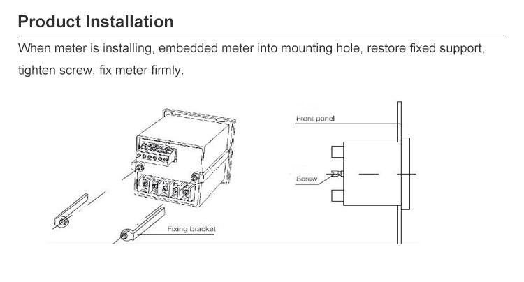 3 phase panel mount power meter