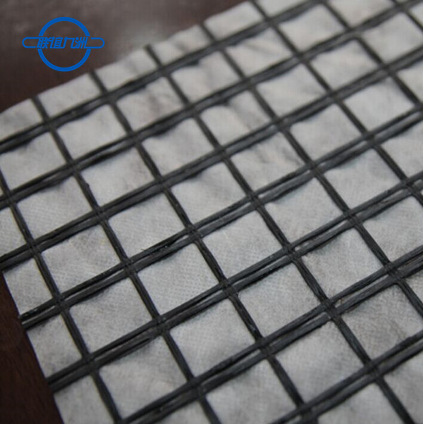 Fiberglass Geogrid Composite With Nonwoven Fabric by Glue