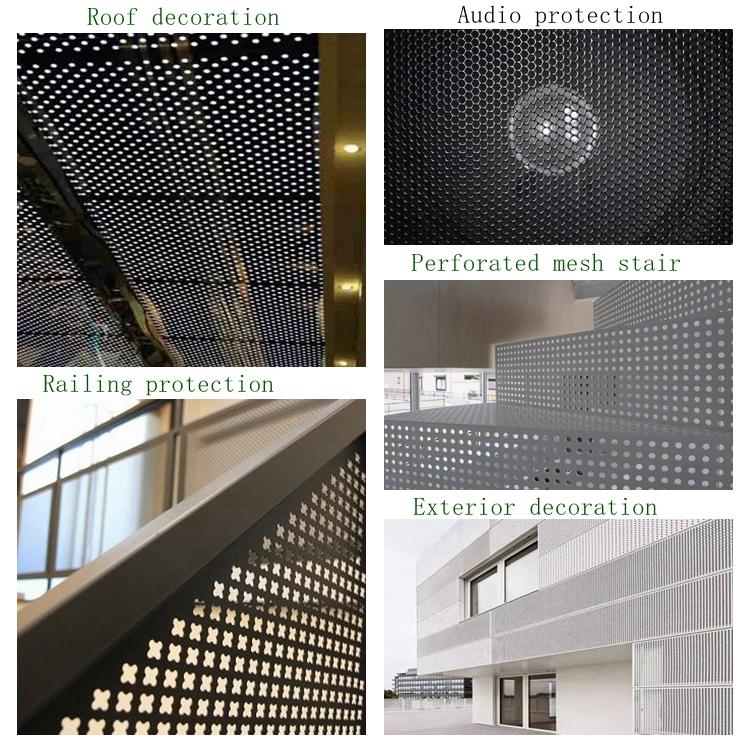 1.5mm hole size aluminium perforated mesh