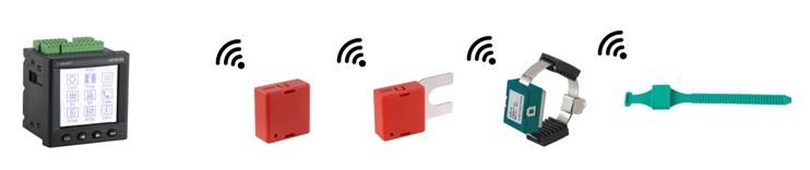 Cable wireless temperature sensor receiver