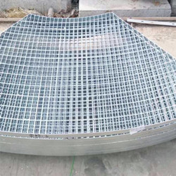 Shaped Welded Steel Grating