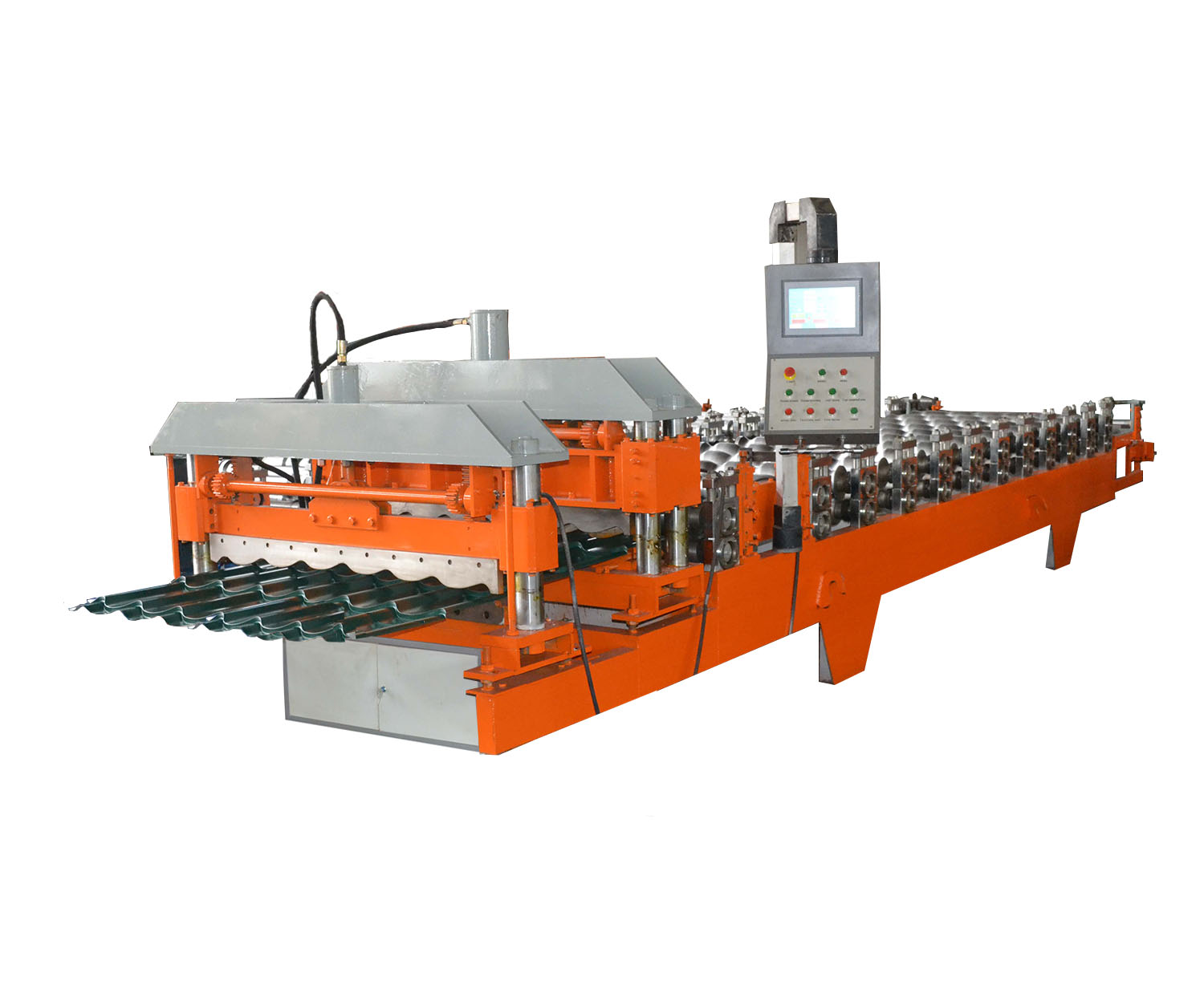 Kyrghyzstan 3D glazed roof tile roll forming machine