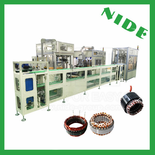 Stator production assembly line