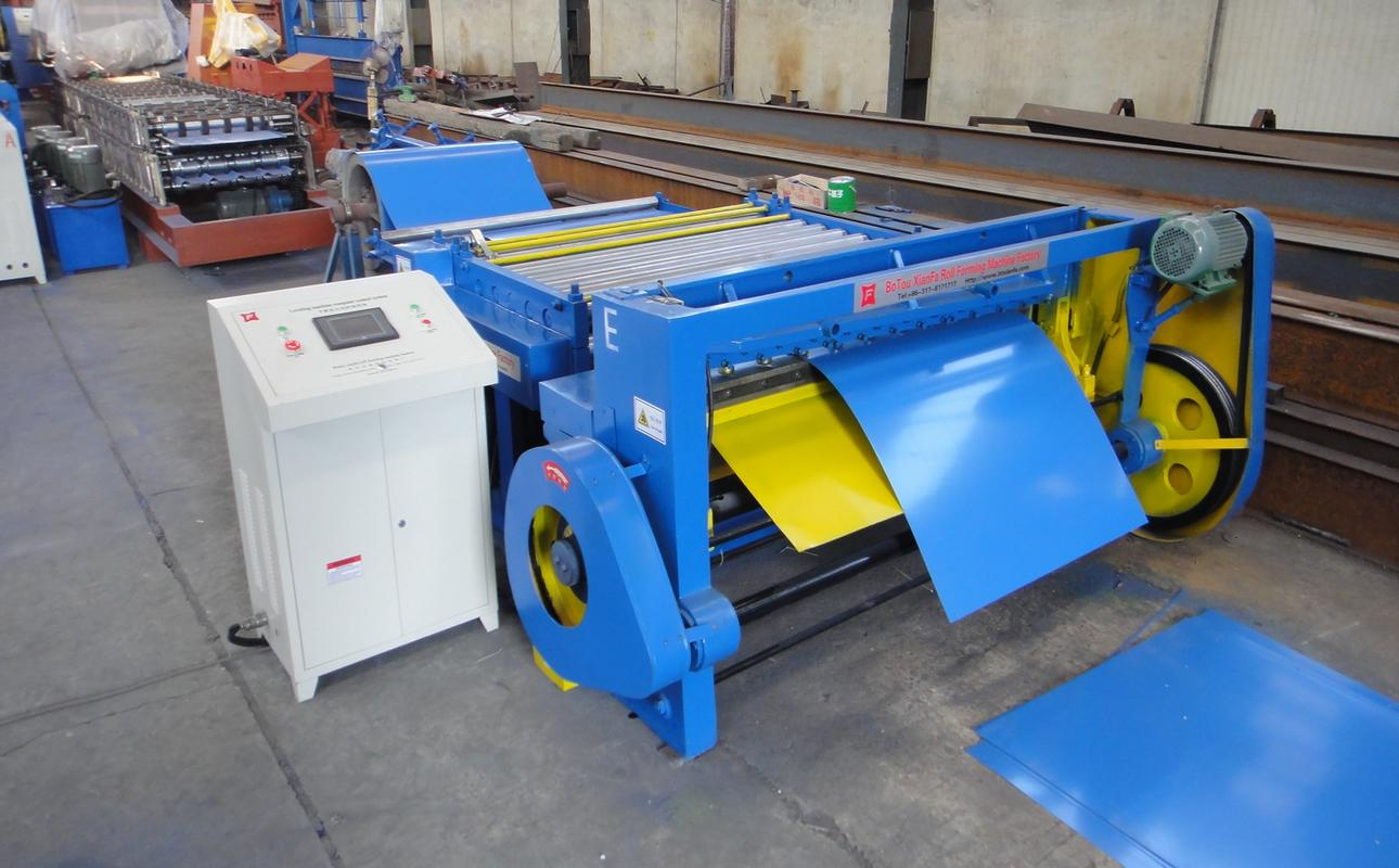 High speed production Uncoiling Flatting Cutting Line