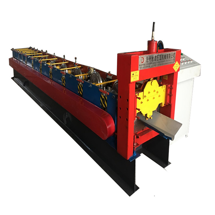Aluminum metal roofing ridge cap roll forming machine