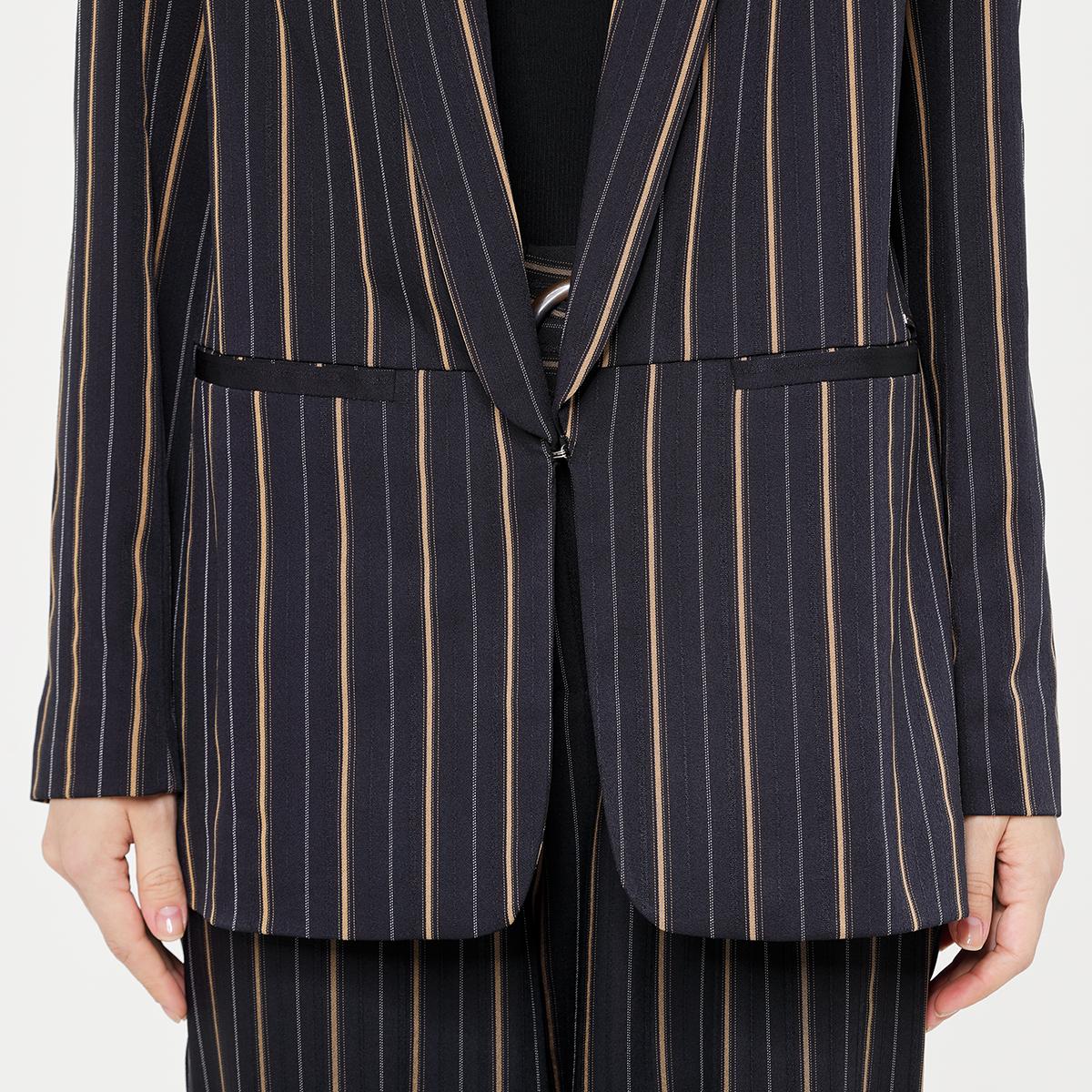 Stripe women's suit blazer