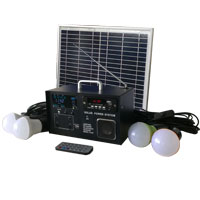 Solar Radio Lighting home kit with LCD Screen