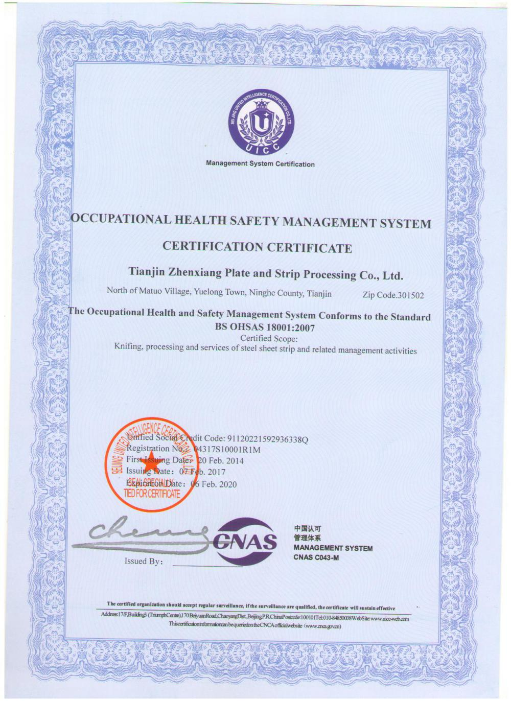 BS OHSAS18001:2007