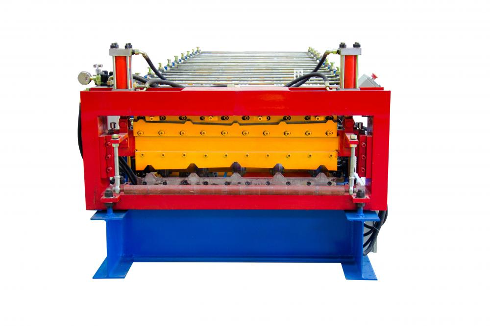 Double layers high speed roll forming machine