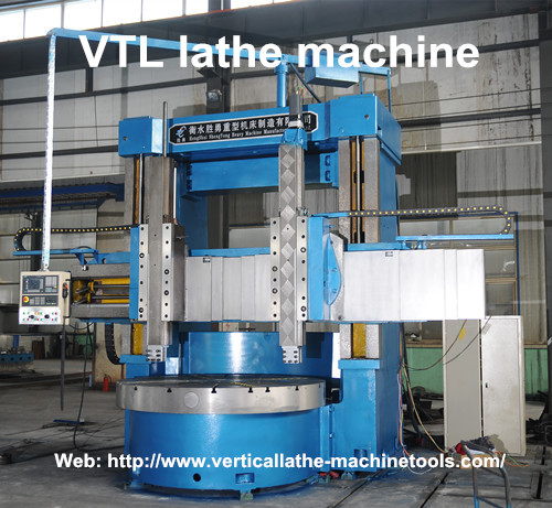 Vertical turning lathe VTL machine is running