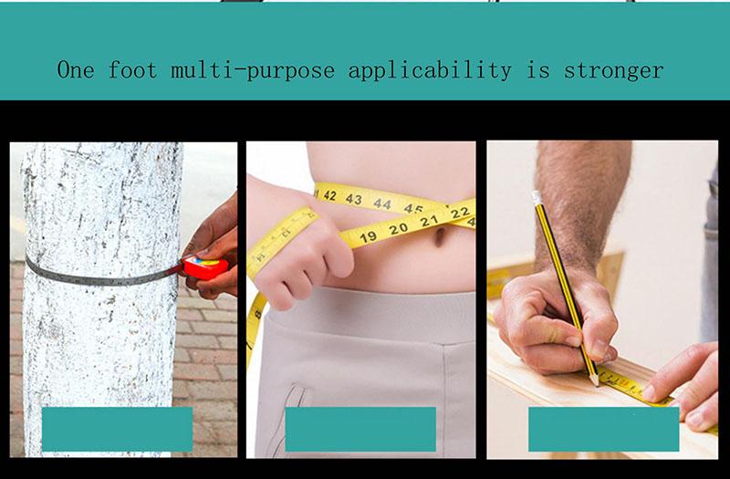 Cinta métrica personalizada al por mayor de la medida del cuerpo de las cintas métricas de la cerradura del empuje de los 2m del logotipo personalizado al por mayor
