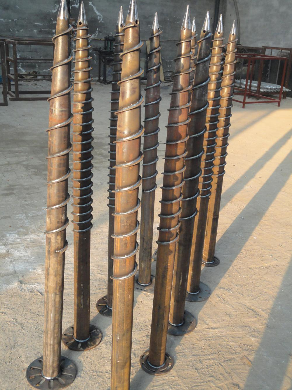 without High Dip Galvanized Ground Screw