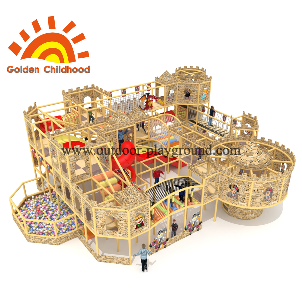 Wooden Castle Indoor Playground Equipment For Sale