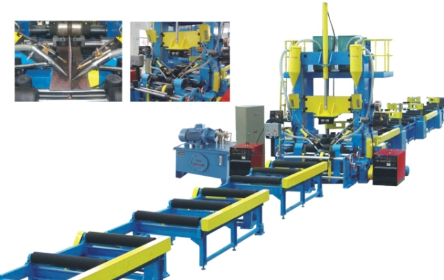 H beam welding production line