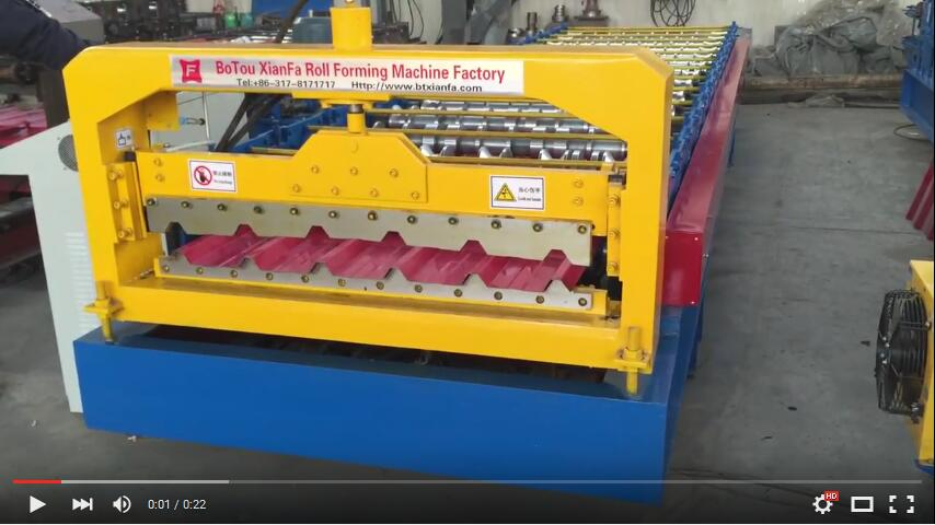 Botou Xianfa Glazed Tile Double Deck Roll Forming Machine