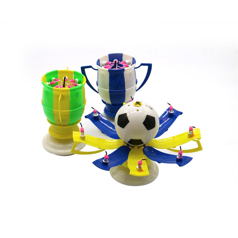 Wholesale football world cup football music firework candle making for happy birthday party