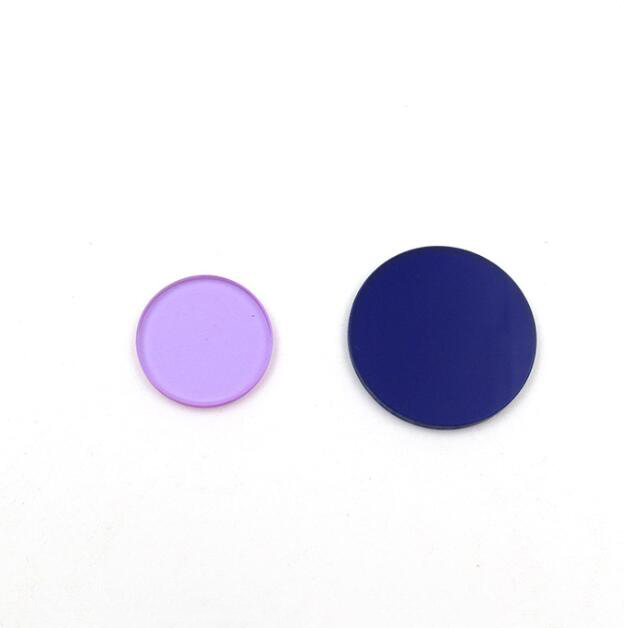 Custom QB28 filters blue glass color lens visible absorption optical filter