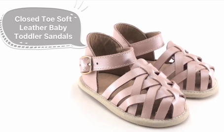 Closed Toe Baby Summer Sandals Girl