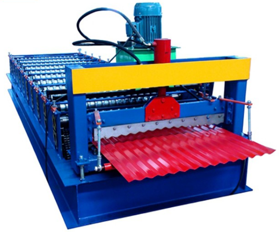 glazed roofing tiles rolling machine