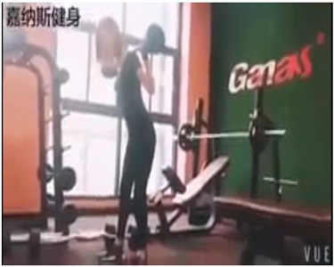 workout video from Ganas gym members