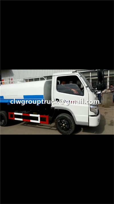 CLW GROUP TRUCK FOTON SFC 5CBM Water Tank Truck is shipping to customer