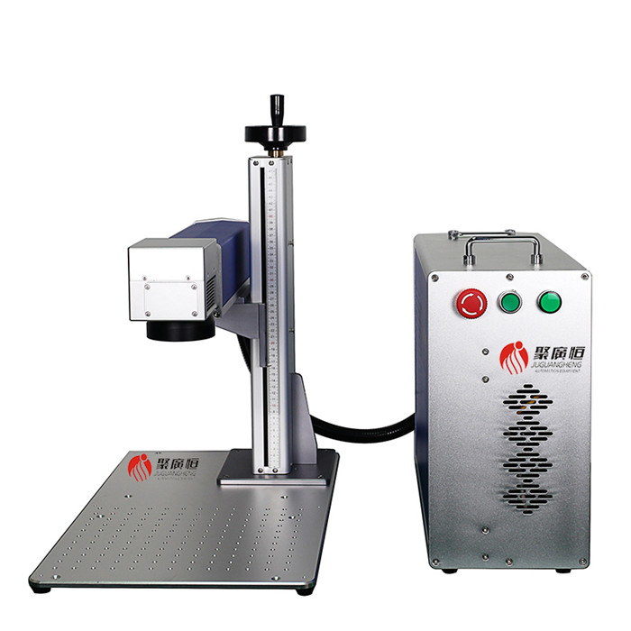 The fiber laser marking machine marks the painted nail polish bottle